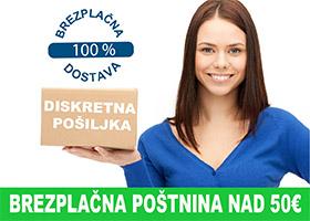 Brezplačne poštnina nad 50€
